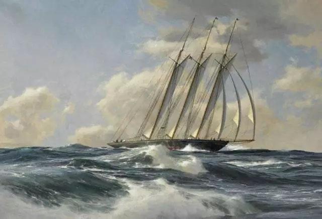 帆船一路向梦想的彼岸劈浪前行