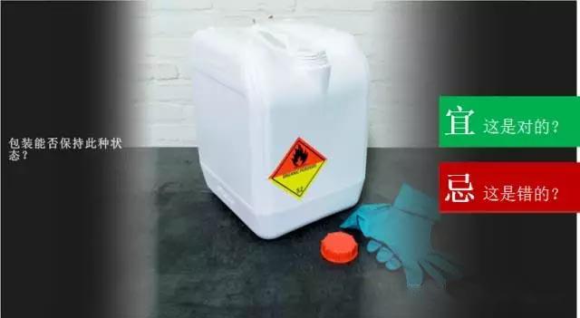 图中容器装有过氧化物,该包装桶是否可以保持此种状态?