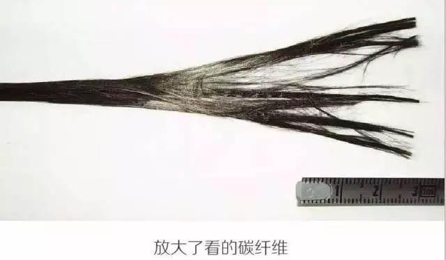 放大了看的碳纤维