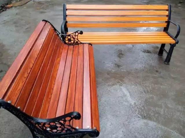 FRP制作的木纹座椅