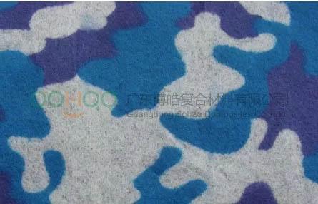 彩色聚酯表面毡制作花纹板