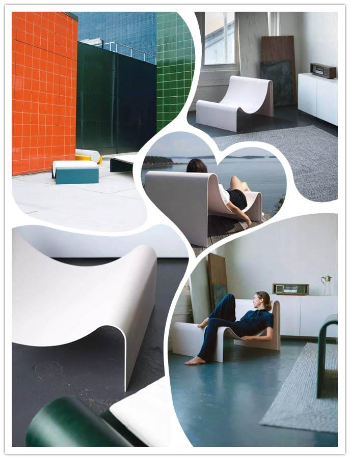 玻璃纤维打造时尚有型的家具:坚固轻盈,一体成型