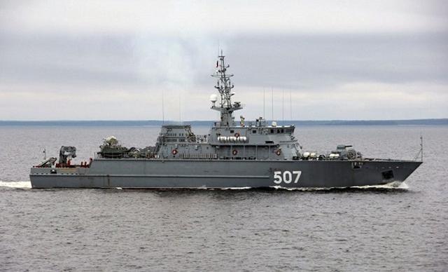 """长61米!世界最大的玻璃纤维船:俄罗斯""""伊万安东诺夫""""号扫雷舰完成国家试验"""