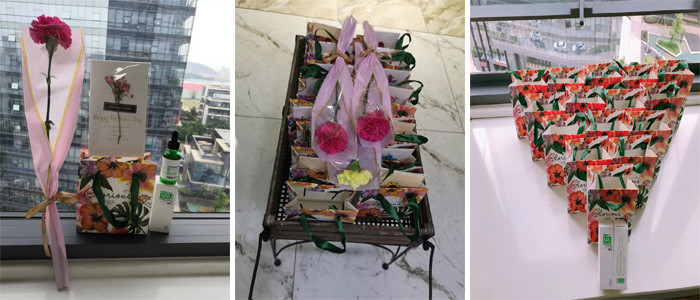 广东博皓大家庭给各位母亲送上精心准备的礼物,表达公司对各位母亲的感恩和祝福。