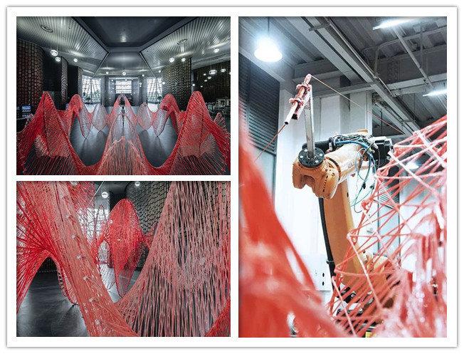 玻纤复合材料与艺术的完美融合:机器人花70小时编织的玻璃纤维艺术装置
