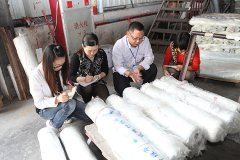 广东必发365官网采购部门人员学习玻璃纤维布产品知识