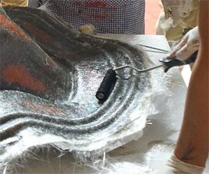 玻璃钢工具 4-6寸猪鬃滚压泡毛滚筒 手糊弹簧消泡辊筒刷 刺泡滚