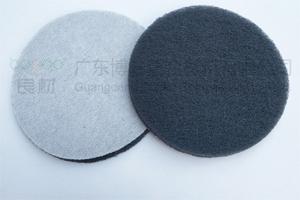 5寸圆形拉丝背面植绒工业百洁布 玻璃钢模具研磨抛光布气动机专用清洁布