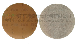 玻璃钢抛光材料 1950快贴砂纸圆盘自粘打磨砂纸 5寸抛光背绒砂纸
