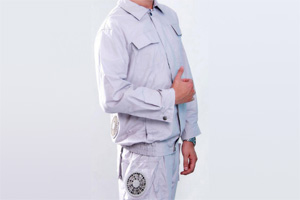 风扇降温服 迷彩/灰色长袖/短袖降温服套装 进口面料 可快速安装/拆卸