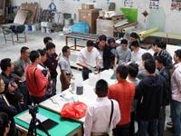 第六期广州博皓玻璃钢模具培训班实操篇