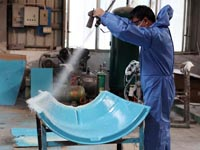 第六期广州博皓玻璃钢模具培训班固瑞克设备演示篇