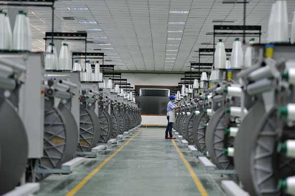 玻纤电子布生产车间