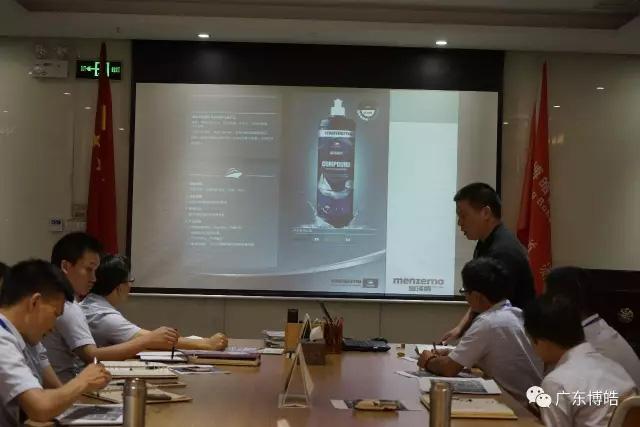 抛光之王曼泽纳首次亲临广东博皓介绍最新抛光产品